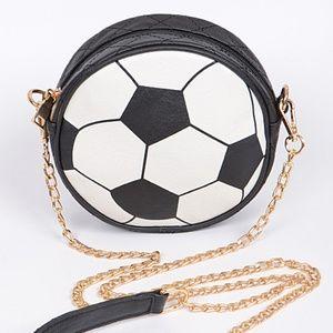 Soccer Ball round Clutch Bag